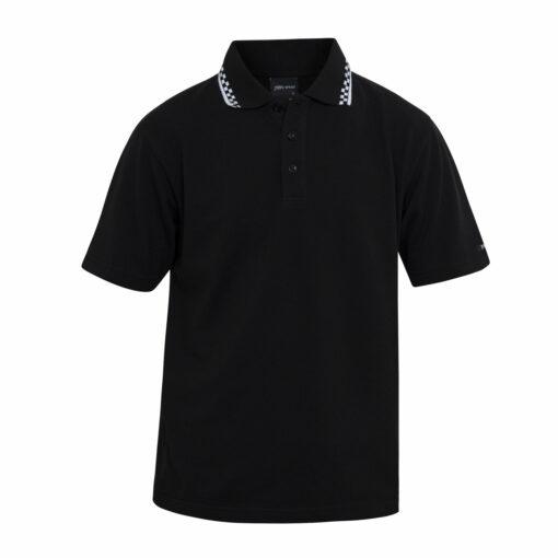 Black Polo Check collar