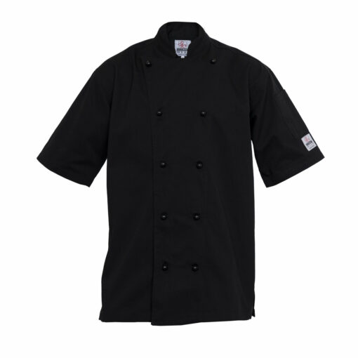 Chef Coat Short Sleeve Black