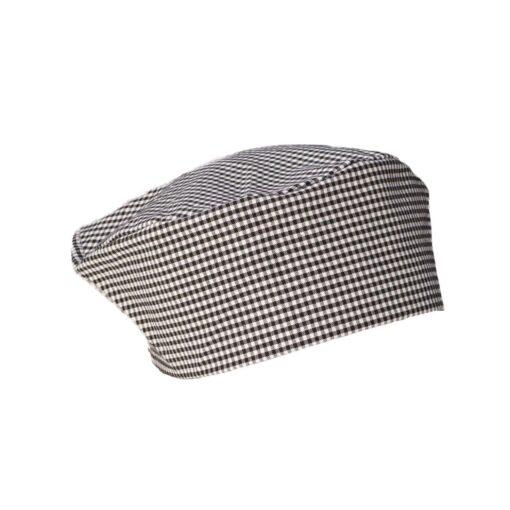 Gourmet Wear Flat Top Hat Black/White Checkered Medium