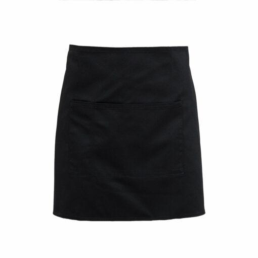 Black Waiter's Apron plus pocket
