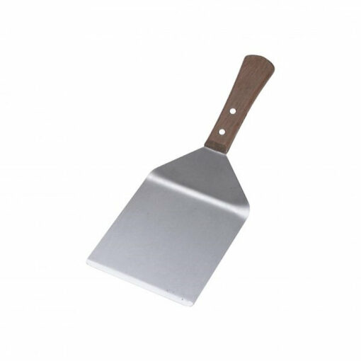 Chef Inox Burger Turner 130 x 110mm Stainless Steel Wooden Handle