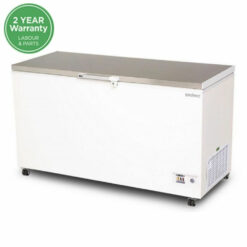 Chest Freezer Stainless Steel Solid 492L