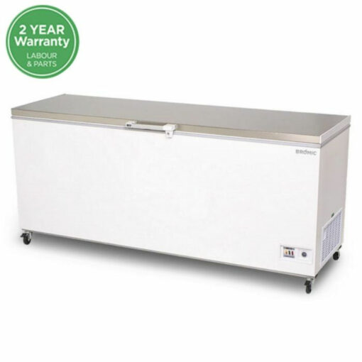 Chest Freezer Stainless Steel Solid 675L