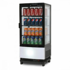 82L Countertop Chiller Curved Glass