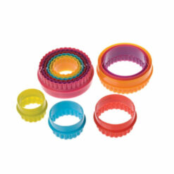 Pastry Cutter Set Round Plastic 6 Double Side