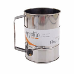Flour Sifter 5 Cup Stainless Steel Crank Style