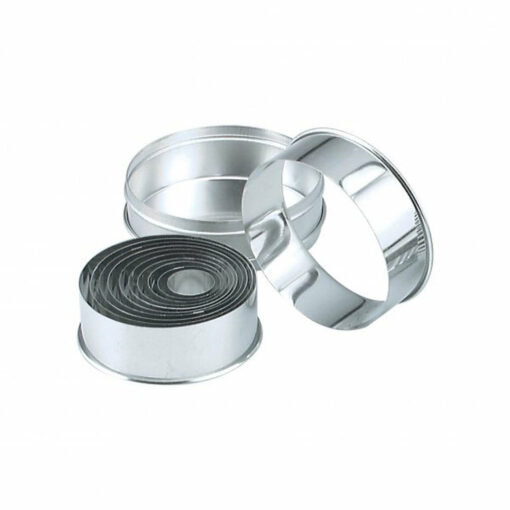 Pastry Cutter Set Plain Tin 11 Piece 25-95mm