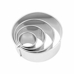 Pastry Cutter Set Plain Stainless Steel 4 Piece 38-110mm