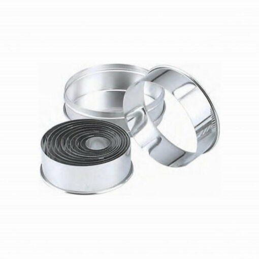 Pastry Cutter Set Plain Stainless Steel 11 Piece 25-95mm