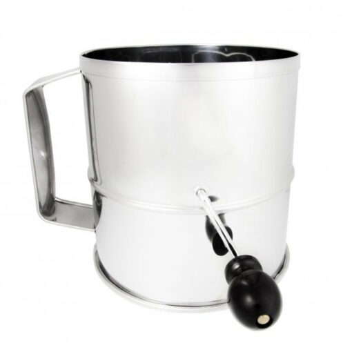 Flour Sifter 8 Cup Stainless Steel Heavy Duty