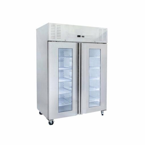 Airex Upright Refrigerator - 2 Glass Doors