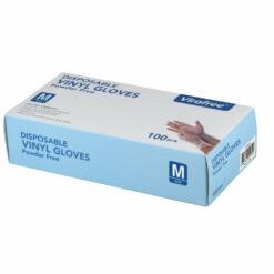Virafree Disposable Gloves 100 PK Vinyl M