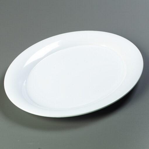 Platter Oval White Melamine 43cm